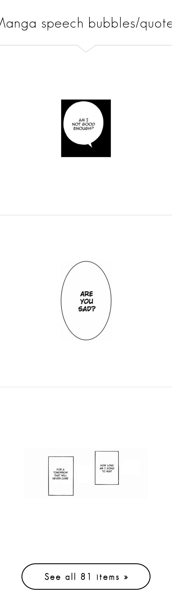 Manga Speech Bubbles Quotes By Soranamikaze Liked On Polyvore Featuring