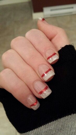 Christmas nails 2013 - done by marjorie :)