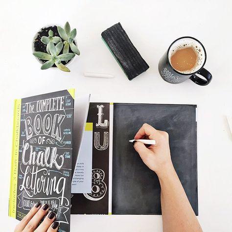 Chalkboard Design: kostenlose Fonts, Retro Geburtstagsposter