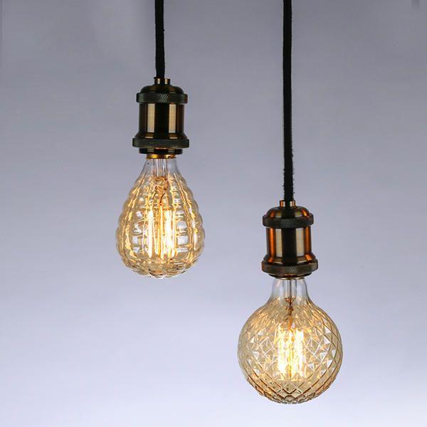 E27 40W Warm White Pineapple Fire Balloon Retro Vintage Edison Global Incandescent Light Bulb AC220V