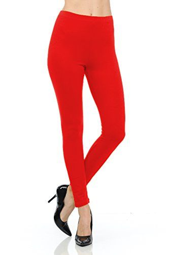 Stretchy and Soft Long Cotton Leggings with an Elaticized Waist  http://darrenblogs.com/us/2018/01/29/jntop-elasticized-waist-cotton-leggings-ruby-red-medium/