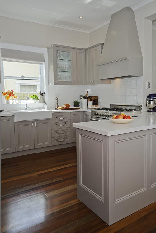 Lilyfield Life: Designing a French Kitchen. I never would have thought of grey cabinets