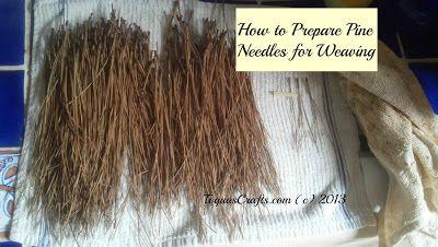 Toqua's Crafts: How to Prepare Pine Needles for Weaving