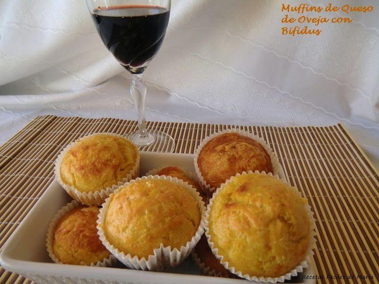 Las Recetas Fáciles de María: Muffins de Queso de Oveja con Bifidus