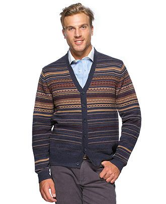 Argyleculture Sweater, Fair Isle Cardigan Sweater - Mens Sweaters ...