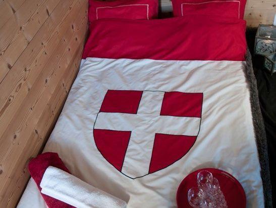 Taie d'oreiller La Croix de Savoie 65x65 - Vagabonde