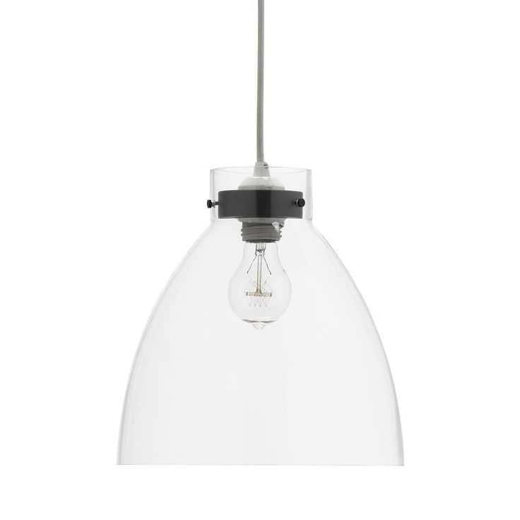 Industrial Ceiling Lamp, Clear Glass