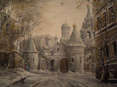 Moscow Views by Alexander Starodubov Russian Artist ~ Blog of an Art Admirer