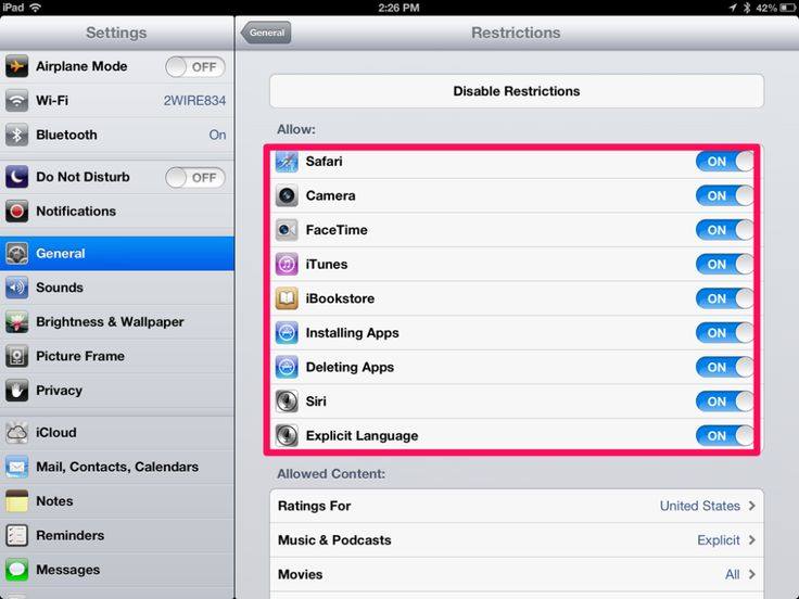Using Your iPad Restrictions Effectively