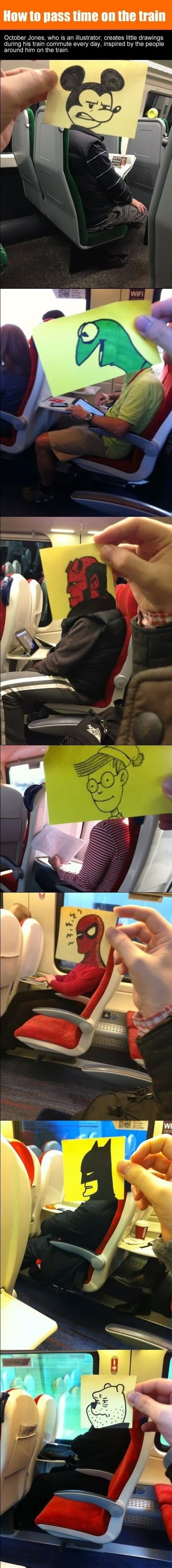 s7reetsahead: how to pass time on train