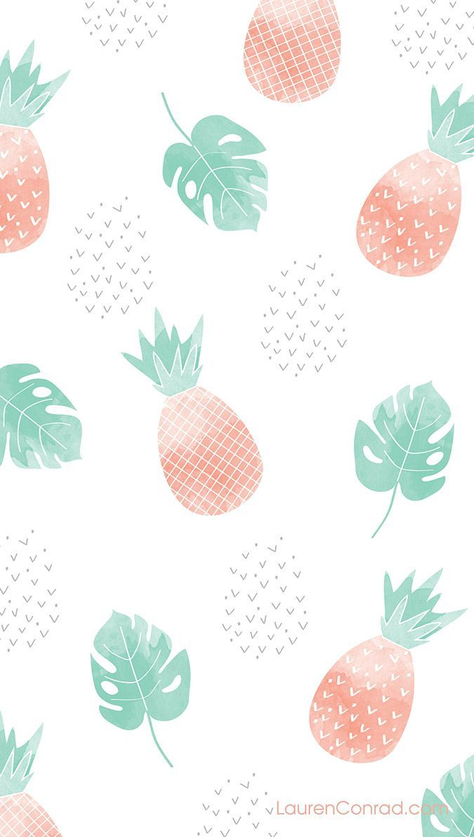 Pineapple phone wallpaper on LaurenConrad.com