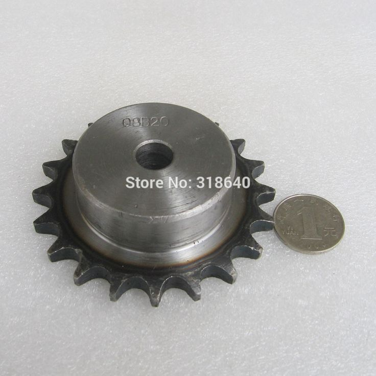 """08B 20T 20Teeth Pitch 12.7mm 1/2"""" Bore 12mm Industry Transmission Driving Single Sprockets mechanical parts for roller chain"""