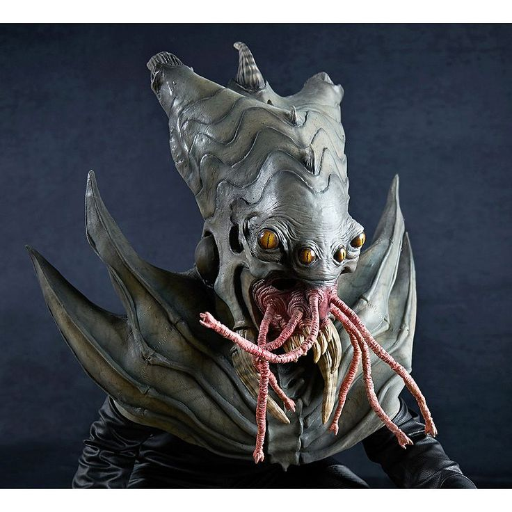 Adult The Nightmare Collection Amphibious Alien Costume Mask, Red