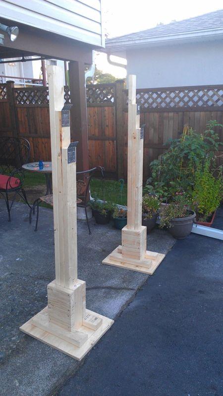Diy squat rack good idea for the base home gym for Make a squat rack at home