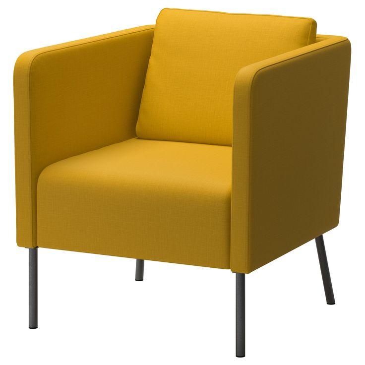 IKEA - EKERÖ, アームチェア, スキフテボー オレンジ, , リバーシブルの背もたれクッションが背中をふんわりと優しくサポートします背もたれクッションは取り外し可能。お好みに合わせてご自由にお使いください10年品質保証。詳しくは「品質保証のご案内」をご覧ください
