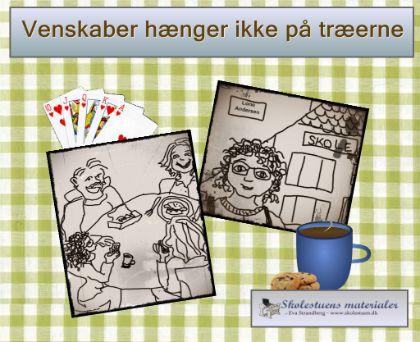 """Smart Notebook-lektion fra www.skolestuen.dk - """"Venskaber hænger ikke på træerne"""" - En billedhistorie med en åben slutning, der kan bruges som oplæg til dialog om hvordan man finder, håndterer og bevarer et godt venskab."""