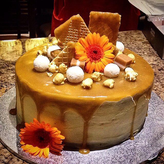 Gingerbread caramel cake! Follow me on Instagram @thecakekeeper