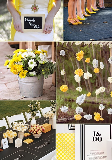Wedding Colors - Gray and Yellow are great for any wedding palette: modern, vintage, rustic, etc.