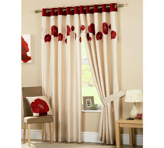 Buy Danielle Lined Eyelet Curtains 168x229cm - Red at Argos.co.uk - Your Online Shop for Curtains, Blinds, curtains and accessories, Home furnishings, Home and garden.