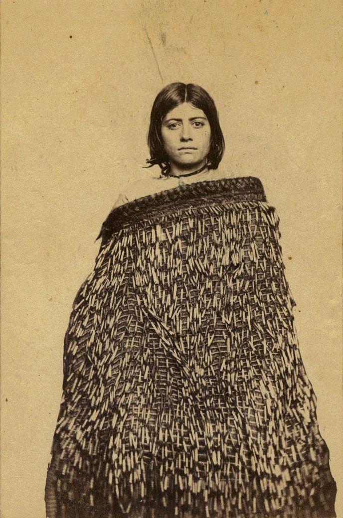 Edward Smallwood Richards (1837-1917) Portrait of Mere Tupe-o-tu, of Taranaki, taken, probably in the late 1860s Moriori, Inhabitant of the Chatham Islands