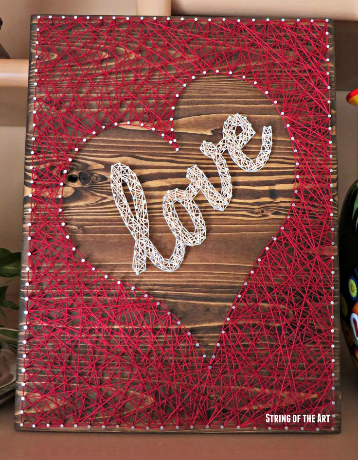 String Art DIY Crafts Kit - Heart Decor, DIY String Art Love, DIY Kit, Crafts…