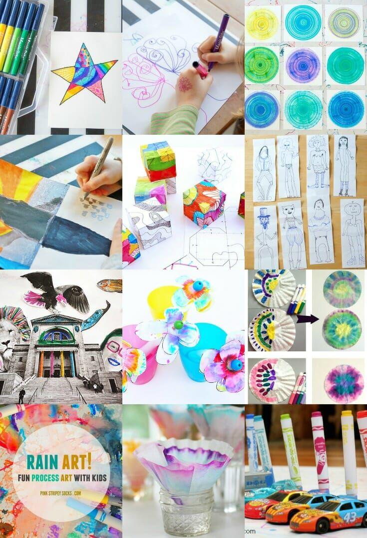 12 Creative Marker Art Ideas For Kids K I D S Marker Art