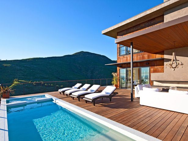 .Architecturecool Spaces, Swimming Pools, Pools Decks, Outdoor Room, Wood Decks, Outdoor Spaces, Outdoor Pools, Poolside Paradis, Pool Decks