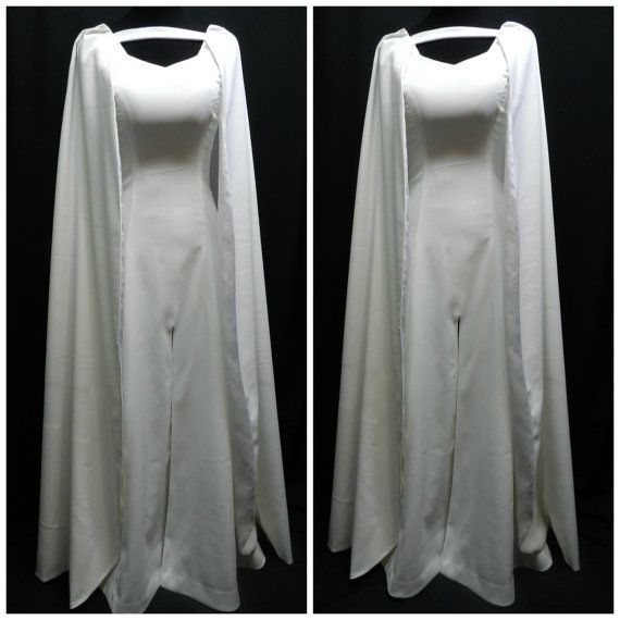 Game Of Thrones Daenerys Targaryen season 5 white dress custom made to your size!  Beautiful dress made from white polyester matte satin (