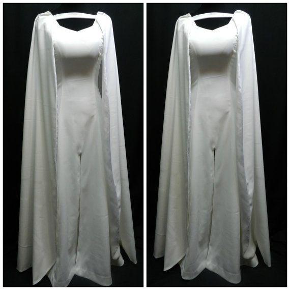Game Of Thrones Daenerys Targaryen season 5 white dress custom made to your size!  Beautiful dress made from white polyester matte satin (