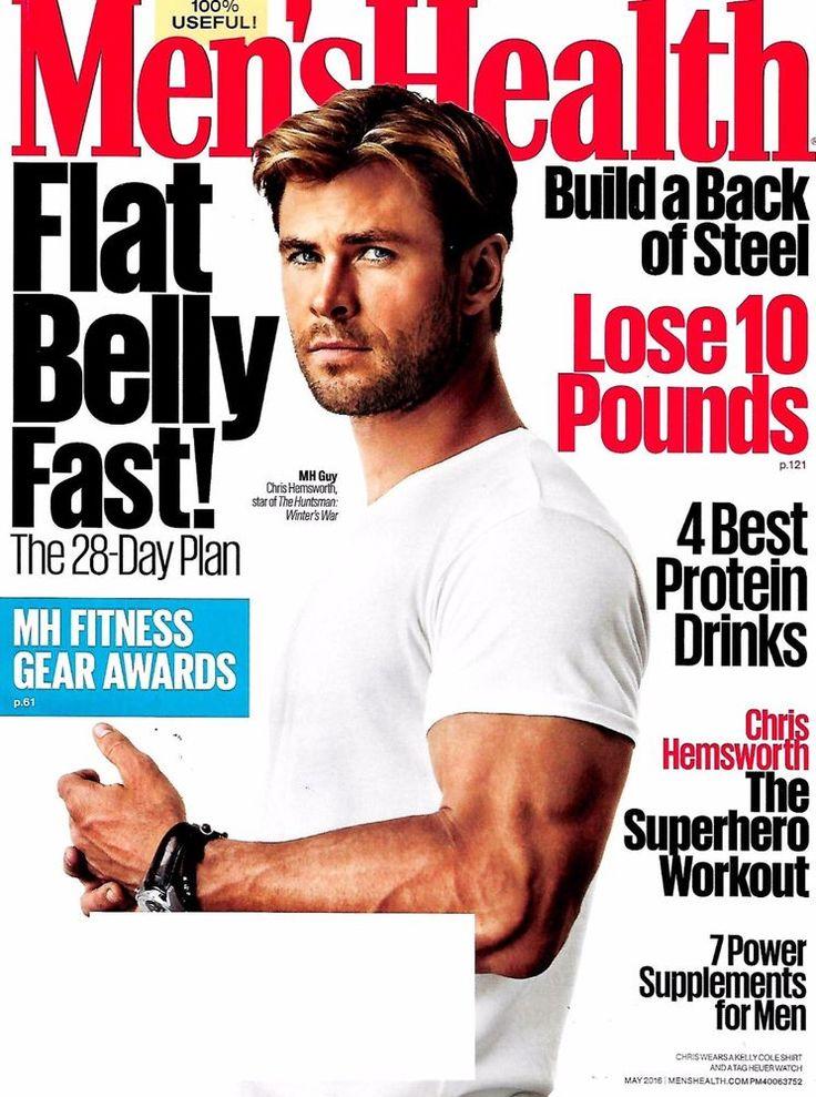 Men's Health Magazine May 2016 The Huntsman's Star Chris Hemsworth Cover - NEW