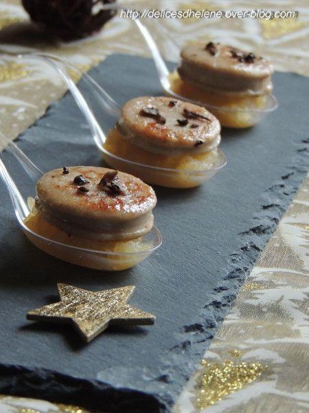 Cuillères de boudin blanc aux truffes