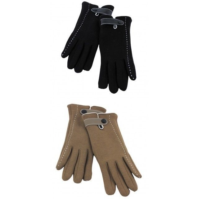 Women Elegant Fully Lined Winter Gloves Stitched Accent  NWT Available 2 colors #Simi #EverydayGloves