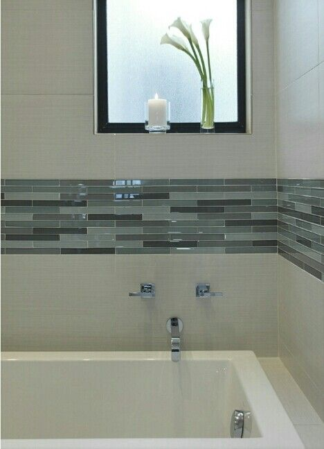 Bathroom tile design, love this