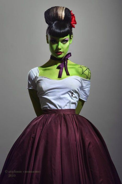 Horror/Rockabilly/Psychobilly Zombie: Halloween Costumes, Rockabilly Bride, Halloween Makeup, Pinup, Pin Up, Bride Of Frankenstein, Zombies, Halloween Ideas, Costumes Ideas