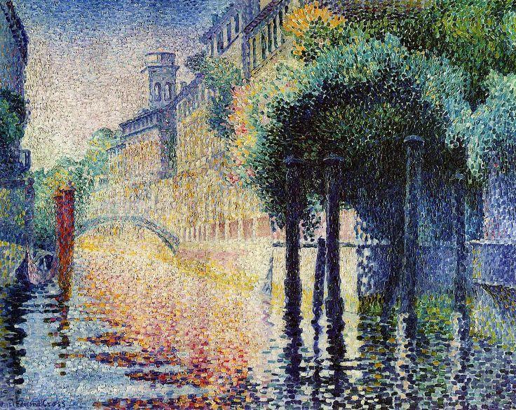 Henri-Edmond Cross, Rio San Trovaso, Venice, 1903-1904