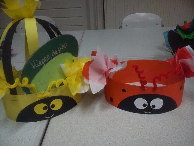 Verjaardag muts lieveheersbeestje en bij