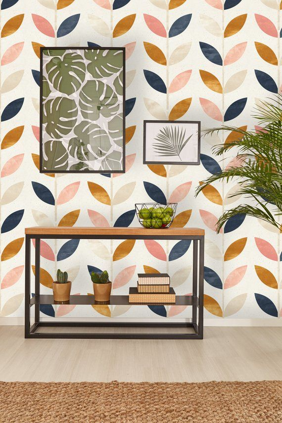 Removable Wallpaper Self Adhesive Wallpaper Scandinavian Style Pattern Peel Stick Wallpaper In 2021 Removable Wallpaper Scandinavian Wallpaper Wallpaper Accent Wall