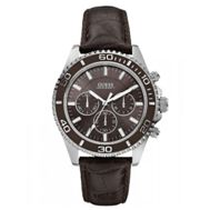 http://www.going.co.za/guess-gents-w0171g2-chaser-chrono-silver-brown-watch - Guess Gents W0171G2 Chaser Chrono Silver & Brown Watch