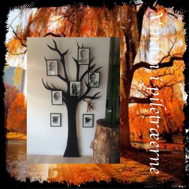 Vi laver de skønneste træer i metal. Som vist her, kan de bruges som stamtræ med eller uden lys bagved. Dette måler 1 x 2 mtr. Prisen for dette dekorative træ, excl rammer, og med fatning er 1499.-  Det er også muligt at få dem lavet til knagerække eller lig dette blot i andre mål. Her er pris i forhold til opgave.