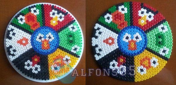 Angry Birds large coaster hama beads by Javi/Alfons05