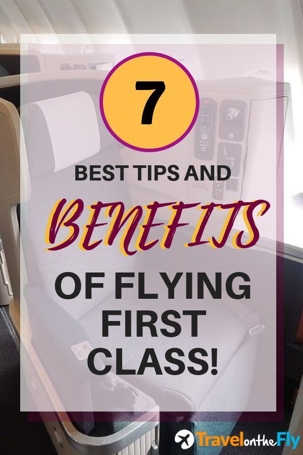 When Flying First Class Especially On A Long Haul Flight There