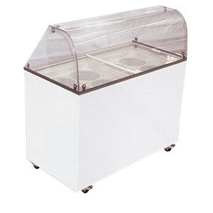 Dipping Cabinet: Glasses Tops, Curves Glasses, Ice Cream, Depot Ideas, Dips Cabinets, Freezers Dips, Cream Freezers, Bus Depot