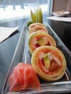 Carb-free sushi from Tekka Sushi.