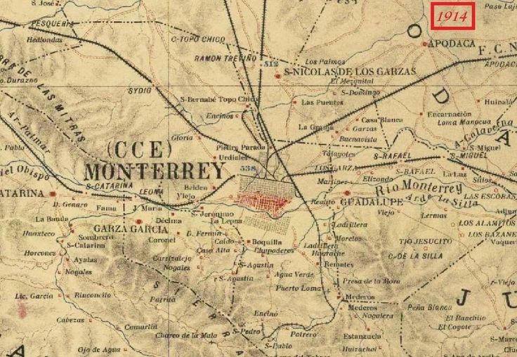Monterrey Map |Old Monterrey Mexico Map