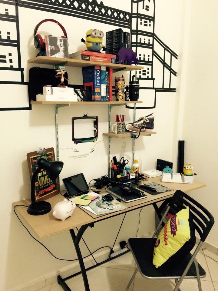 Galeria do Leitor DIY - Reforma de quarto e decoração com fita isolante.