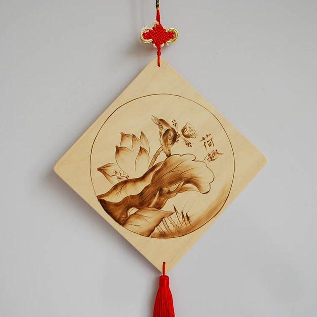 Escultura em madeira artesanato e arte, Criativa casa de moda ornamentos de…