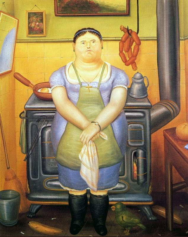 Fernando Botero - The Maid