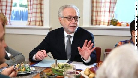 """Ellen DeGeneres introduces """"Mobile Moderator,"""" a new service that will allow Wolf Blitzer to moderate your Thanksgiving dinner and keep post-election peace."""