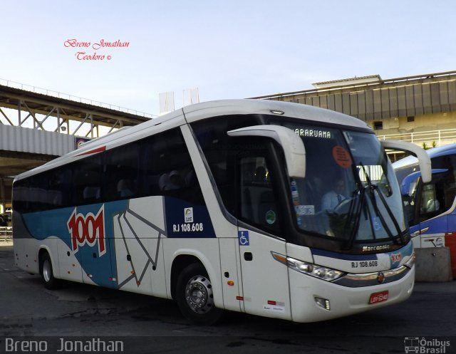 Ônibus da empresa Auto Viação 1001, carro RJ 108.608, carroceria Marcopolo Paradiso G7 1050, chassi Volvo B11R. Foto na cidade de Rio de Janeiro-RJ por Breno  Jonathan, publicada em 04/04/2016 16:51:58.