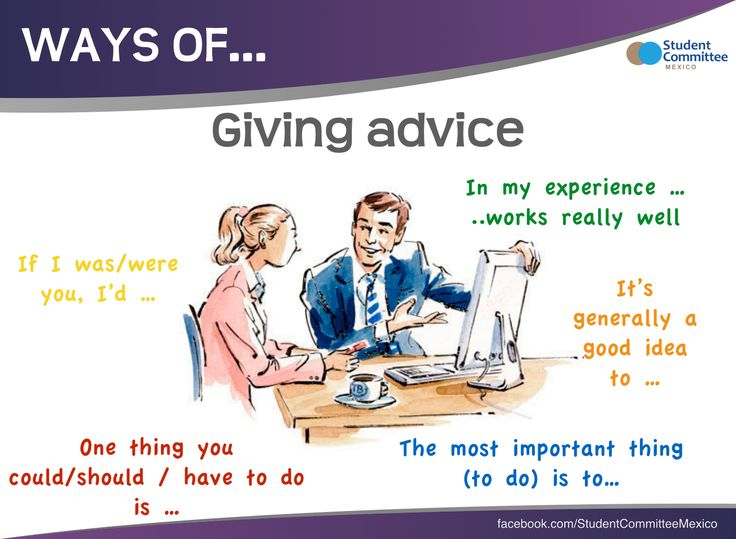 ' Giving advice ' WAYS OF ...